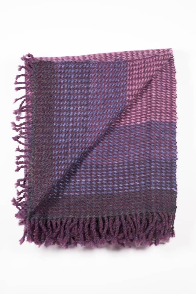 Purple Blanket - RainShadow Fiber Studio   Twisted Strait Fibers