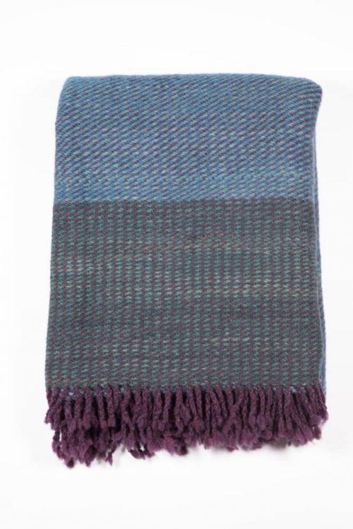 Starry Night Blue Blanket - RainShadow Fiber Studio | Twisted Strait Fibers