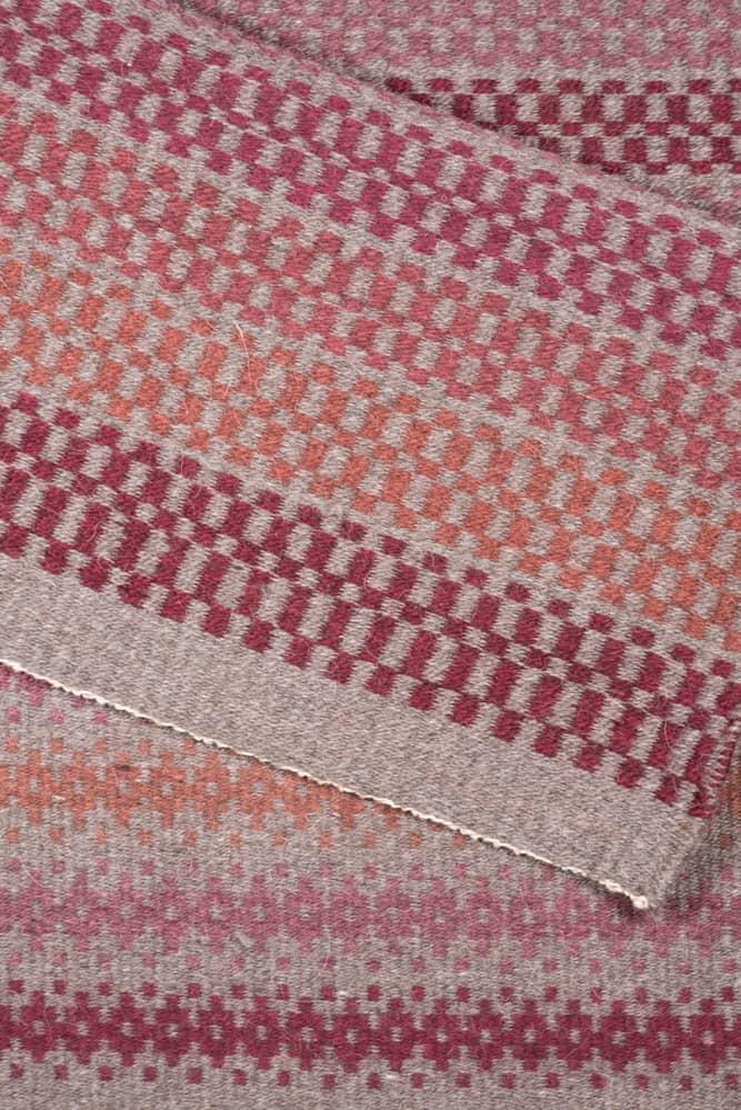 Shades of Red Rug - RainShadow Fiber Studio | Twisted Strait Fibers