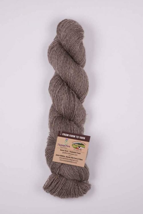 Natural Shetland Wool Skein Milk Chocolate - Thistlehill Farm | Twisted Strait Fibers