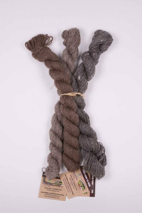 Natural Shetland Wool Skein Neutral (3-pack) - Thistlehill Farm | Twisted Strait Fibers