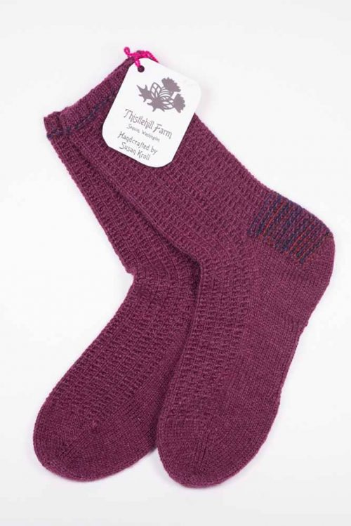 Ribbed Socks - Thistlehill Farm | Twisted Strait Fibers