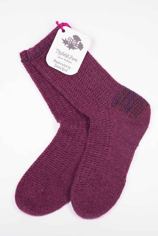 Ribbed Socks - Thistlehill Farm | Twisted Strait Fibers