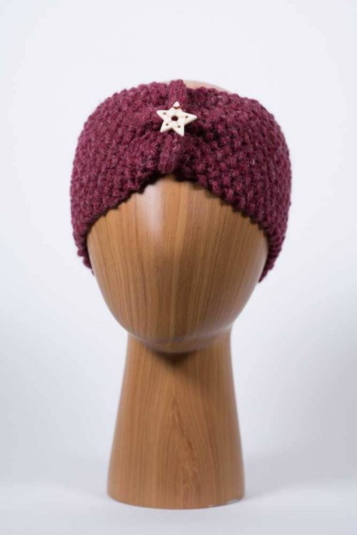 Burgundy Headband - Thistlehill Farm | Twisted Strait Fibers