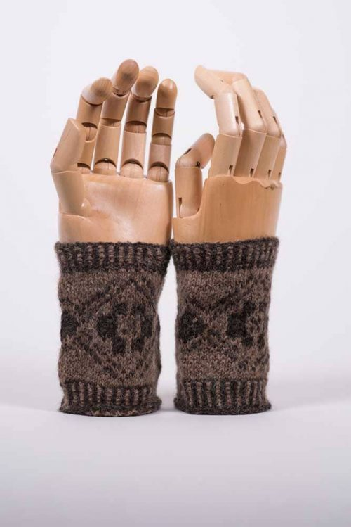 Andean Motif Wrist Warmers - Thistlehill Farm | Twisted Strait Fibers