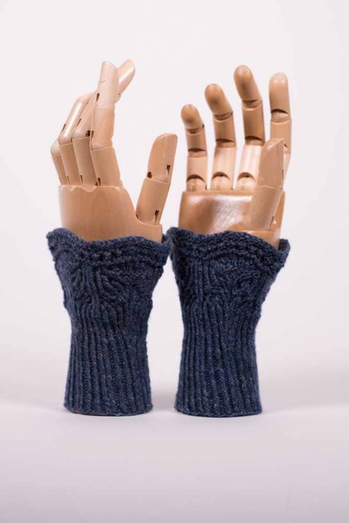Royal Blue High Tea Wrist Warmers - Thistlehill Farm | Twisted Strait Fibers