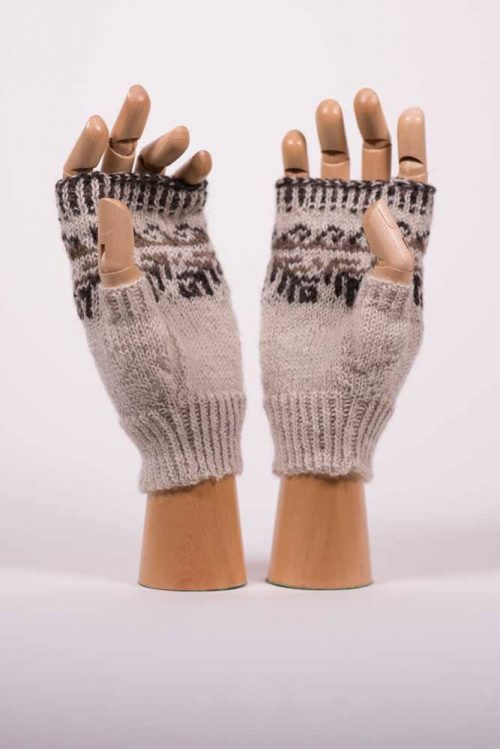 Natural Fiber Fingerless Gloves - Thistlehill Farm | Twisted Strait Fibers