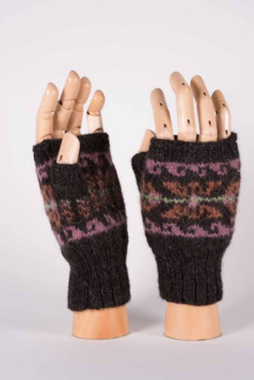 Colorful Fingerless Mittens - Thistlehill Farm | Twisted Strait Fibers