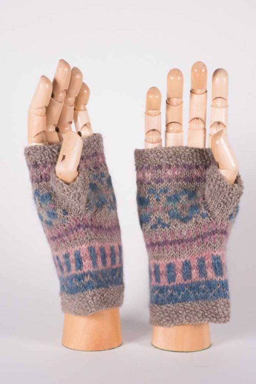 Natural Dyed Fingerless Mittens - Thistlehill Farm | Twisted Strait Fibers